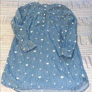 💜Gap kids 1969 denim tunic dress size XL💜